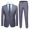 image of wholesale grey formal blazer pants set