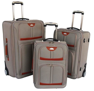 wholesale discount grey orange suitcases