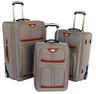 image of wholesale closeout grey orange suitcases