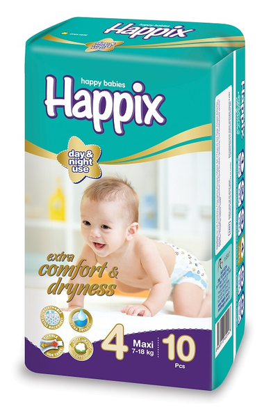 image of wholesale closeout happix maxi diapers