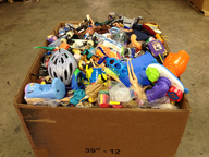 salvage new and return wholesale hard toys box
