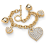 image of wholesale heart charm gold bracelet