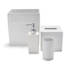 image of wholesale closeout lacca white bath accessories
