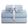 image of liquidation wholesale light blue bed sheets