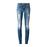 image of wholesale closeout light blue ripped skinny jeans