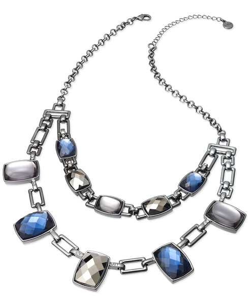 image of wholesale closeout link stone necklace