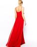 image of liquidation wholesale mango red strappy maxi dress