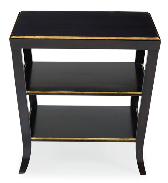 image of wholesale closeout mayfair black gold night stand
