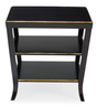 closeout mayfair black gold night stand