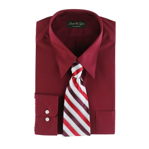 image of wholesale mens dress shirt red