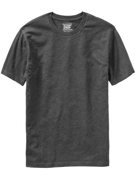 image of liquidation wholesale mens grey basic tshirt