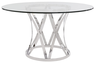 image of wholesale closeout modern dining table clear