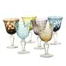 wholesale discount multi color wine glasses