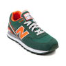 image of wholesale closeout new balance green orange sneakers