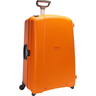 image of liquidation wholesale orange hard cover luggage