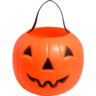 image of wholesale closeout orange pumpkin candy holder