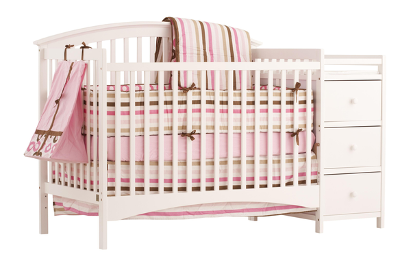 image of wholesale closeout pink crib dresser