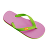 image of wholesale closeout pink green flipflops