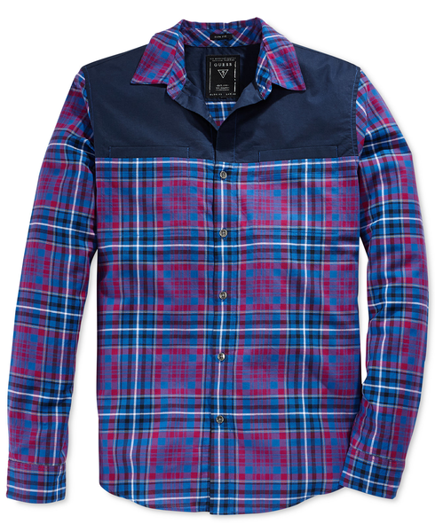 image of wholesale closeout plaid mens shirt a
