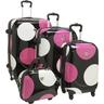 image of liquidation wholesale polka dot luggage set
