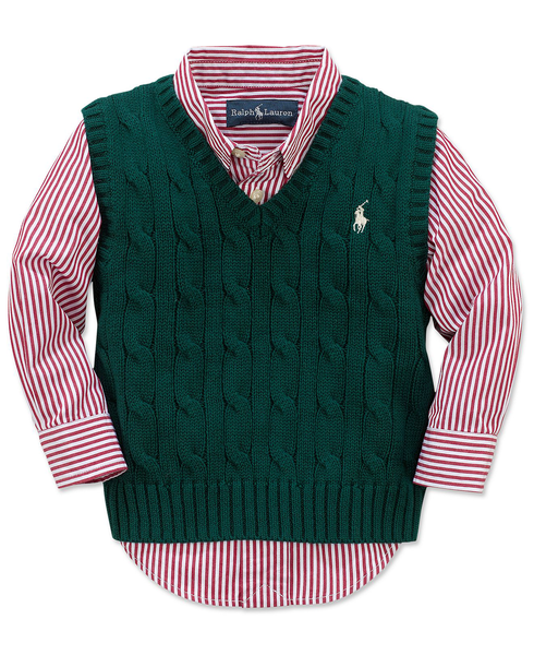 image of wholesale polo boys vest