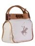 image of liquidation wholesale polo club white brown handbag