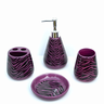 image of wholesale closeout purple bathroom accessories zebra