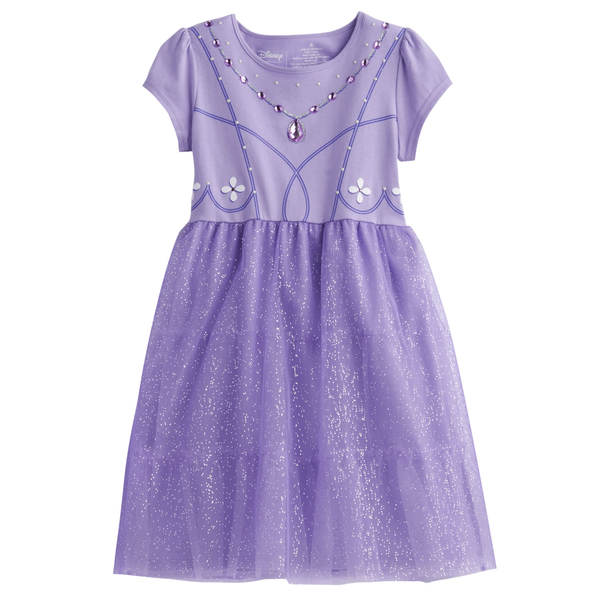 image of wholesale purple kids dress