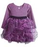 image of wholesale closeout purple ruffle dress