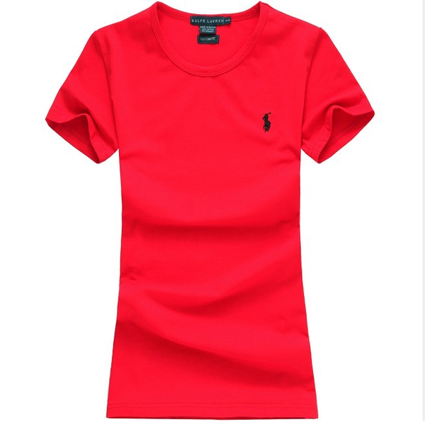 image of wholesale ralph lauren polo women round neck red t shirt