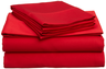 image of liquidation wholesale red bed sheets