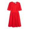 image of wholesale red floral dress