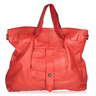 image of liquidation wholesale red leather bag