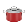 wholesale liquidation red pot cookware