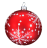 image of wholesale closeout red white christmas ball