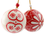 image of wholesale red white tree ornaments