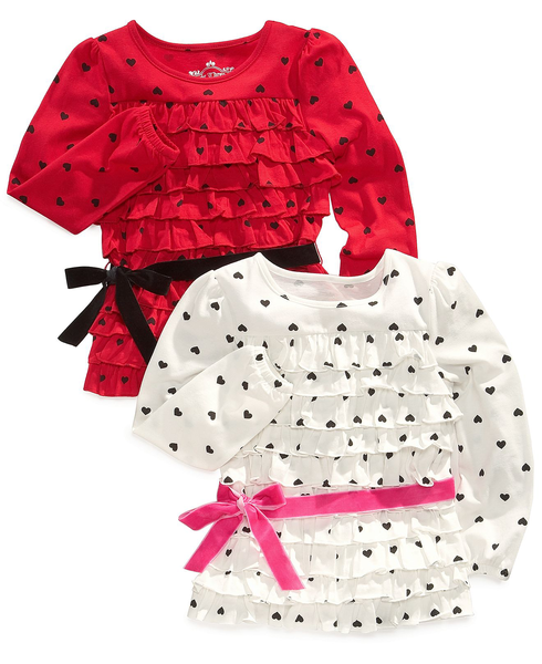 image of wholesale closeout ruffle heart shirts