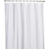 wholesale closeout shower curtain white