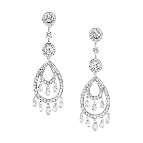 image of wholesale silver diamond earrings
