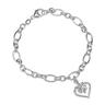 image of wholesale closeout silver heart bracelet
