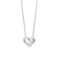 closeout wholesale silver heart necklace