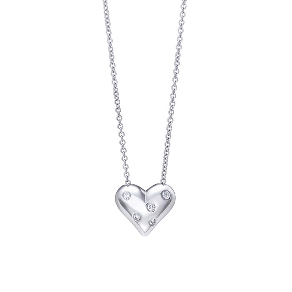 image of wholesale silver heart necklace