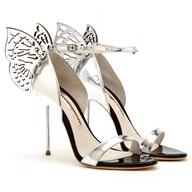 spring sliver butterfly heels truckloads