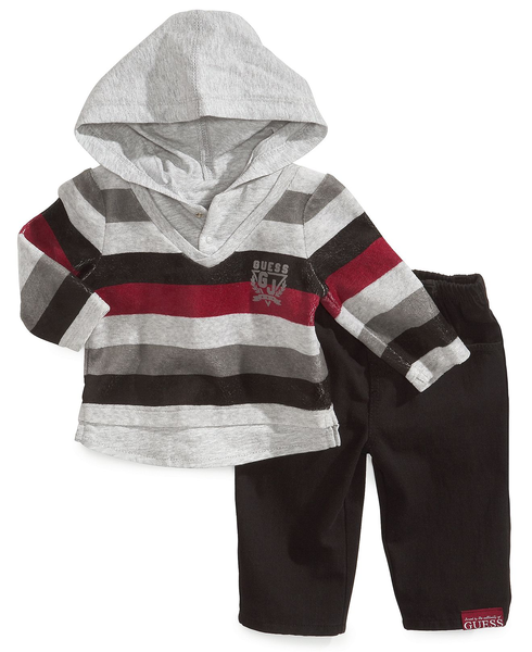 image of wholesale closeout striped hoodie set