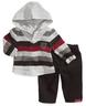 wholesale discount striped hoodie set
