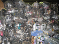 closeout wholesale used footwear in sacks