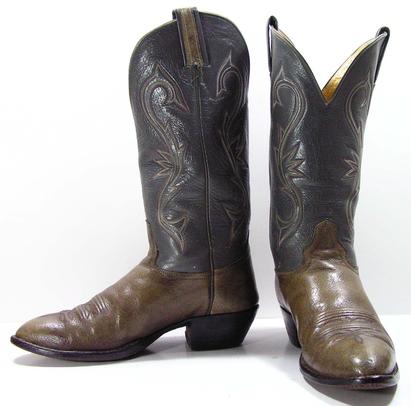 image of wholesale closeout used green cowboy boots