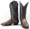 image of liquidation wholesale used green cowboy boots