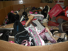 image of wholesale closeout used shoes in pallets
