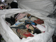 wholesale closeout used shoes in sacks